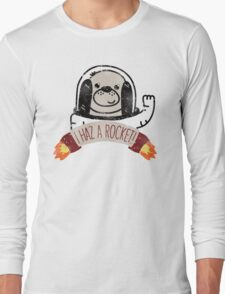 SPACE PUPPY HAZ A ROCKET! Long Sleeve T-Shirt