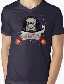SPACE PUPPY HAZ A ROCKET! Mens V-Neck T-Shirt