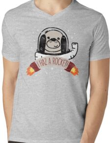 SPACE PUPPY HAZ A ROCKET! Mens V-Neck T-Shirt