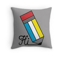 Mondrian: Greeting #2 Throw Pillow