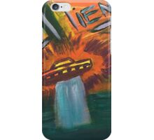 Alien space ship lost in space coming out of water and into oblivion iPhone Case/Skin