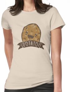 POTATO!!! Womens Fitted T-Shirt