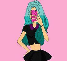 Trying to Take My Selfie... by Resthi Rismarini Putri