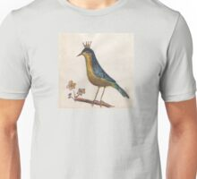 Crowned perky bird Unisex T-Shirt