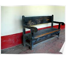 """""""Spanish Mission Bench"""" Poster"""