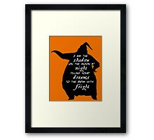 I Am The Shadow On The Moon Framed Print