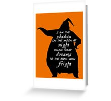 Oogie Boogie - I Am The Shadow On The Moon Greeting Card