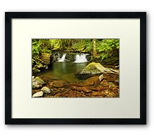 Double Falls at Torc  Framed Print