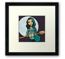 Little Moon Witch Framed Print