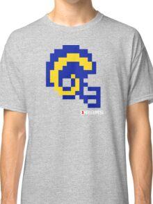 Tecmo Bowl - Los Angeles Rams - 8-bit - Mini Helmet shirt Classic T-Shirt