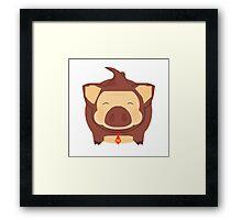 Porker Kong the Pork Barrel King Framed Print