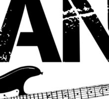 I'm With The Band - Electric Guitar (Black Lettering) Sticker