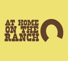 At home on the RANCH with lucky horseshoe One Piece - Short Sleeve