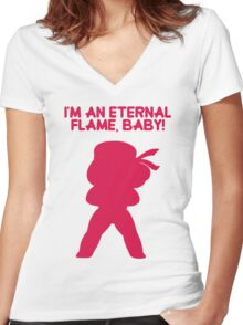 "Steven Universe - Ruby - ""I'm an Eternal Flame, Baby!"" Women's Fitted V-Neck T-Shirt"