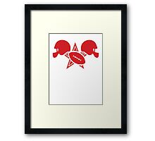 American football gridiron with a star Framed Print