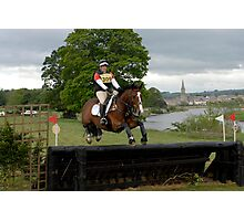 Tricia Hynd on Bill at Floors' Castle Eventing 2011 Photographic Print