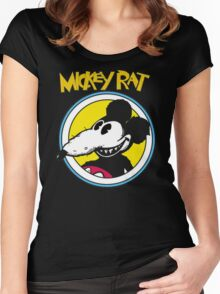 Mickey Rat Funny Parody Retro Women's Fitted Scoop T-Shirt