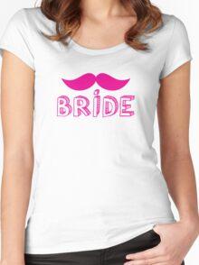 MUSTACHE theme wedding: BRIDE Women's Fitted Scoop T-Shirt