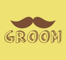MUSTACHE theme wedding: GROOM Kids Tee