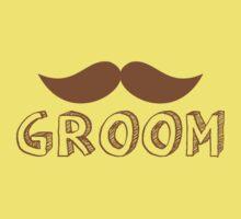 MUSTACHE theme wedding: GROOM Baby Tee