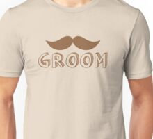 MUSTACHE theme wedding: GROOM Unisex T-Shirt