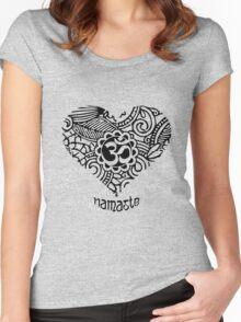 Yoga Heart Namaste Om Women's Fitted Scoop T-Shirt