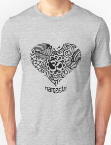 Yoga Heart Namaste Om Unisex T-Shirt
