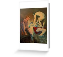 Between Heaven and Hell Greeting Card