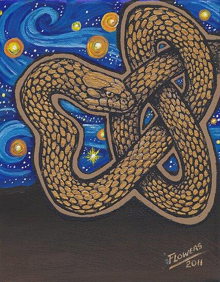Golden Serpent by SnakeArtist