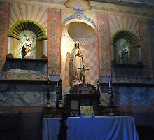 """V"" is for Virgin Mary, Chapel Interior; Mission La Purisima"" by waddleudo"