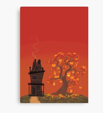 Halloween Tree- Sunset Version Canvas Print