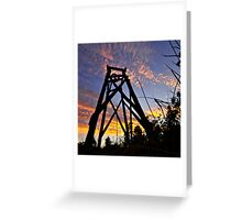 Hill End sunset Greeting Card