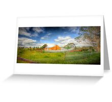 Farmview - Dawsley to Kanmantoo Road, Adelaide Hills, South Australia Greeting Card