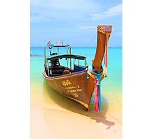 Long Tail Boat Photographic Print