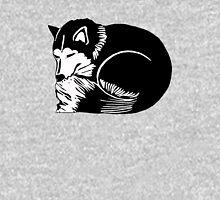 Sleeping Black and White Husky Dog Unisex T-Shirt