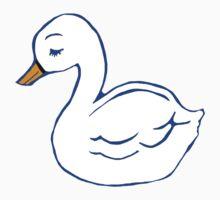 Swan Printmaking Art One Piece - Long Sleeve