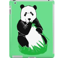 Panda Eating Bamboo Printmaking Art iPad Case/Skin