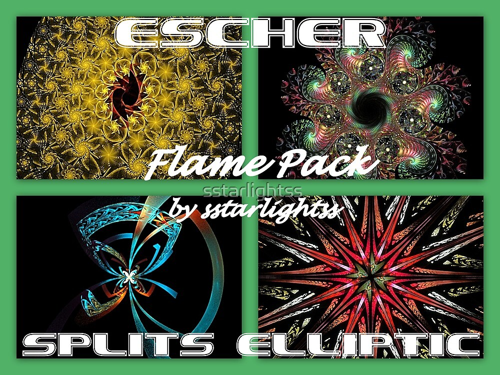 ESCHER - SPLITS ELLIPTIC Flame Pack Cover by sstarlightss