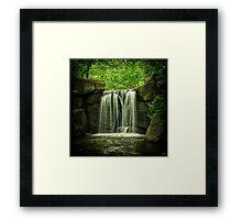 New York City Waterfall! Framed Print