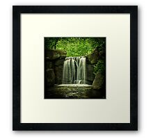 New York City Waterfall! Framed Print