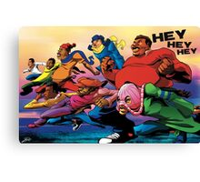 Fat Albert and the Gang Ready for battle Canvas Print
