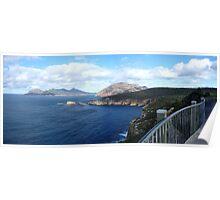 A walk on the edge   Freycinet National Park   Tasmania   panorama Poster
