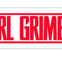 RL Grime Red Logo Sticker