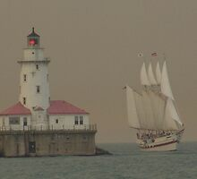 Lake Michigan Lighthouse - Chicago, IL by searchlight