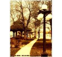 Depot Park (Historic District, Downtown Kalispell) Photographic Print