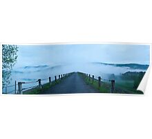 Waterbury Dam Swallowed by Fog Poster