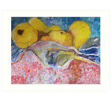 Sarah's Pears Art Print