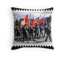 █ ♥ █ █ ♥ █ Marching With Flags █ ♥ █ █ ♥ █  Throw Pillow