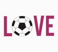 Love Soccer (pink) Kids Tee