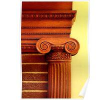 Wood Column Poster